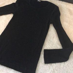 Splendid Tops - Splendid Long Sleeve Black T Shirt Large Long Line